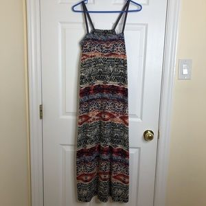 Aztec Patterned Maxi Dress Size Small